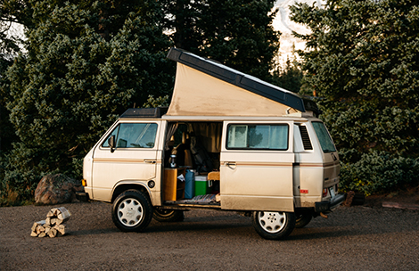 RV camper in Oregon