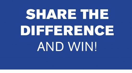 Share the difference and win