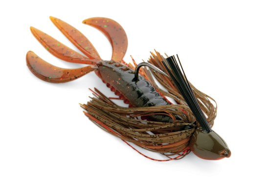 1/2-ounce jig with crawdad trailer